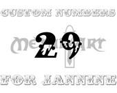 Cutsom Numbers for Jannine