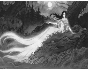 Princess of Mist - Ink drawing