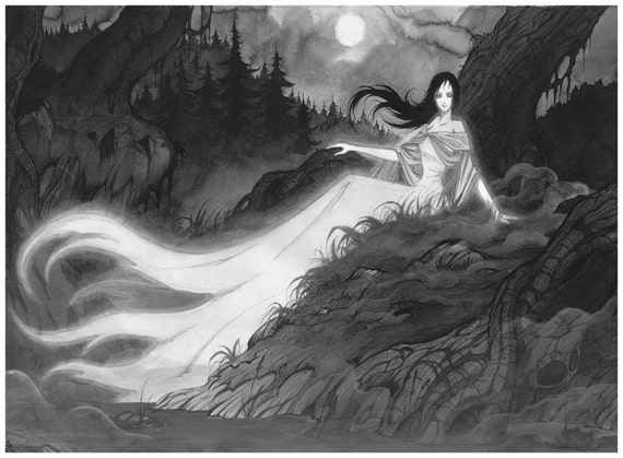 Princess of Mist - Ink drawing