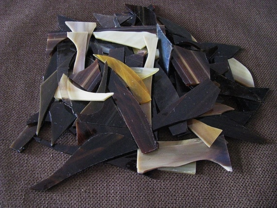 Mixed Brown Stained Glass Scraps Mosaic Craft Supplies