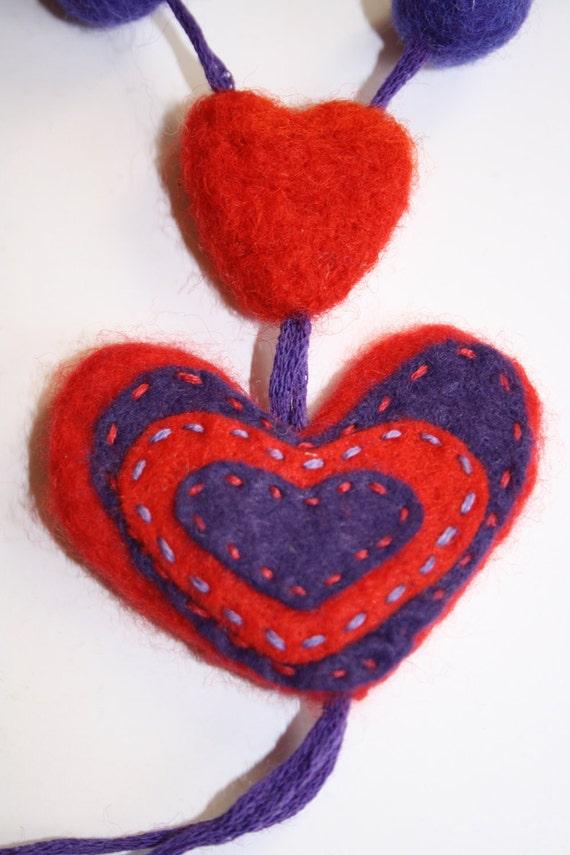 Children necklase heart sweet warm .