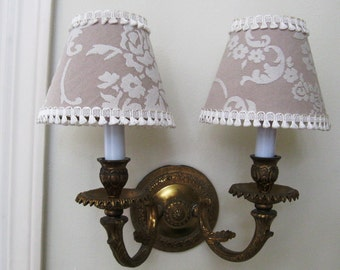 Shabby Chic or Cottage Chic Chandelier Lamp Shades