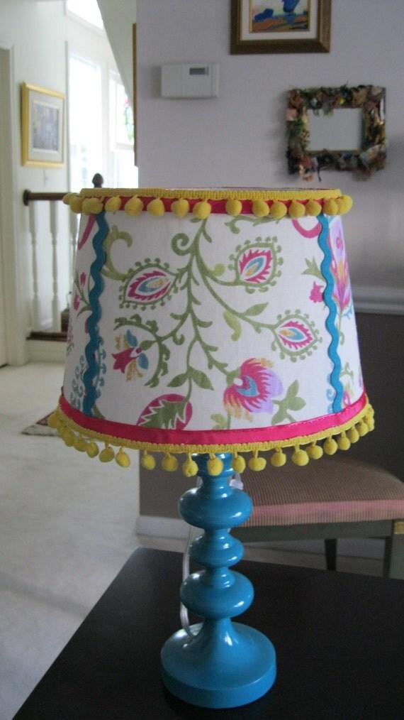 Burlap Drum Lamp Shade