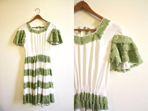 50s Spanish Dancing Ruffle Dress