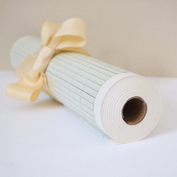 roll of vintage graph paper