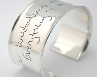 Personalized Cuff Bracelet with Your Handwriting