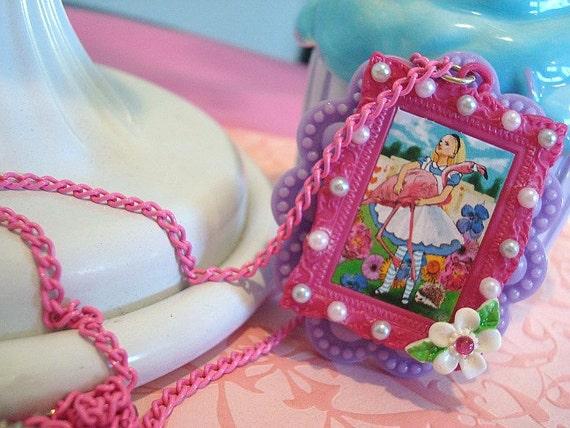 SALE Alice in Wonderland Cameo Necklace