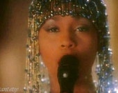RESERVED R. I. P. 80s Whitney Houston Headdress Inspired FREE SHIPPING