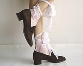 SWEET AMADEUS 80s Elegant Rococo Revival Shoes in Delicious Chocolate Suede Size Made in Spain 7/7.5