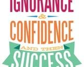 "Key to Success - 11x17"" Poster Print"