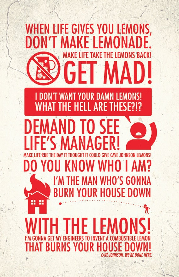 "When Life Gives You Lemons - 11x17"" Poster Print"