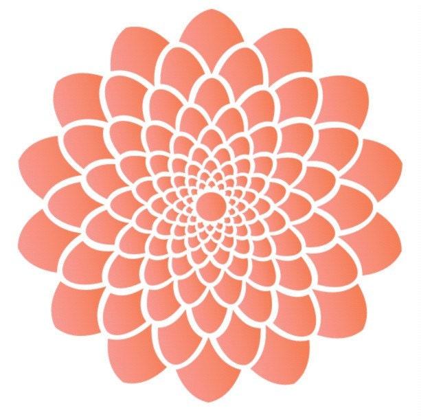 Wall stencil Zinnia Flower pattern reusable mylar