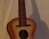 Vintage Child Size Guitar with Cowboy Lithograph