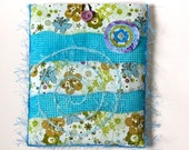 iPad Cover - Aqua and Green with Flowers