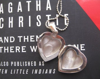 Heart Locket Necklace, Locket Charm, Sterling Silver Heart Locket Necklace, Silver Pendant, Opens Closes
