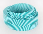 Chevron Ribbon - Aqua