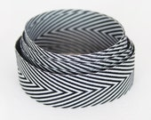 Chevron Ribbon - Black & White