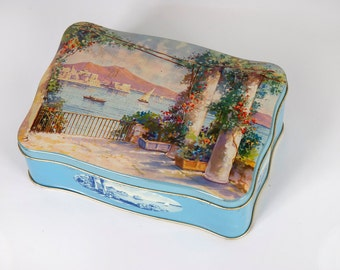 "Vintage English Tin Box ""6 mb container made in England"""