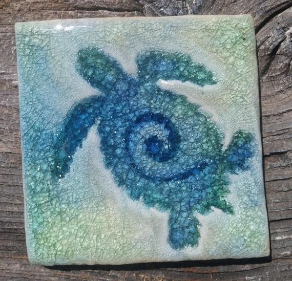 """Sea Turtle 4""""x4"""" Tile"""
