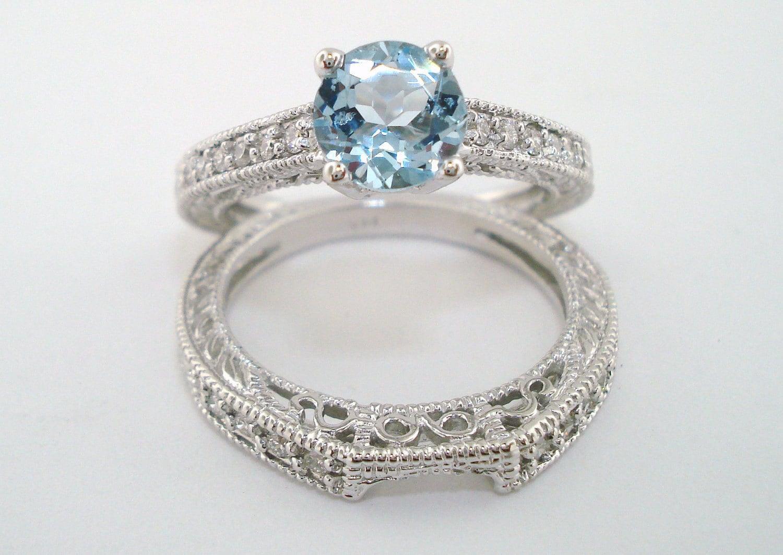 aquamarine diamond engagement ring and wedding anniversary. Black Bedroom Furniture Sets. Home Design Ideas