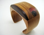 Handmade Carved Wood Bracelet /Wrist Cuff (No. 9)