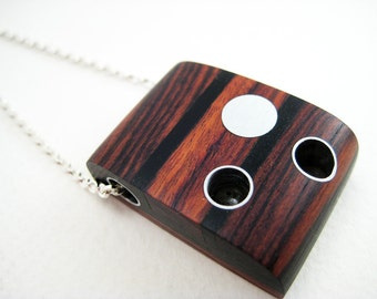 wooden pendant with aluminum and resin, wood, modern, unique, Reflecting Pools