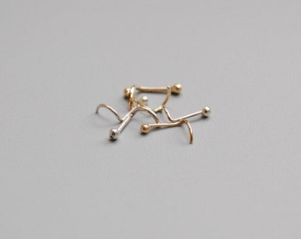 Sterling Silver Nose Ring: Small Stud