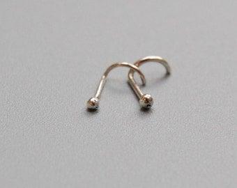 Sterling Silver Nose Ring: Large Stud, 20 gauge / 0.8 mm