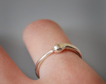 Sterling Silver Ouroboros Infinity Ring - Year of the Snake