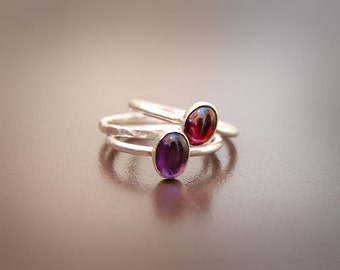 Juicy Stackables - Silver and Gemstone Threesome, Tier 1 Price Range