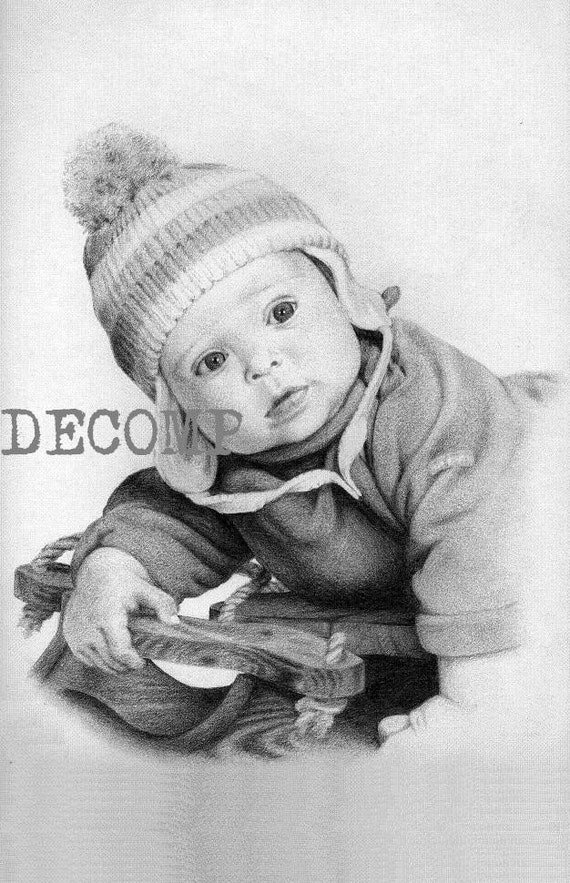 "Custom portrait (single subject) 11"" x 14"" commissioned pencil realistic life like drawing of pets dog cat baby children child wedding grandparents family landscape house building boat animalsmothers fathers special day"