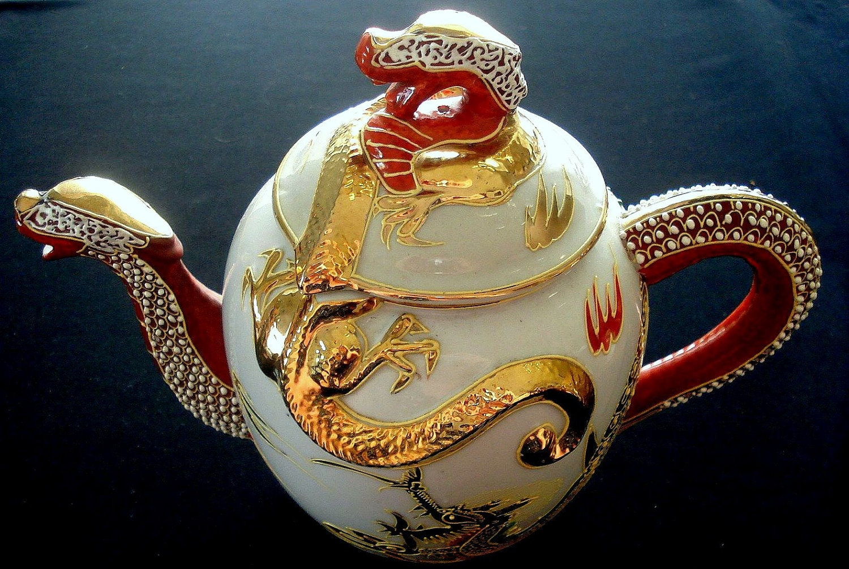 Vintage Ornate Dragonware Handpainted Tea Set