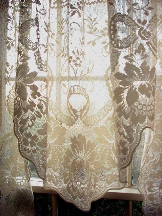 vintage cotton lace curtain swagreserved for by