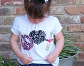 Peace, Love and Christ appliqued tshirt