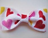 SALE (was 5) Heart Handmade Felt Bow