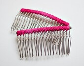 Pink Ombre Hair Comb Set