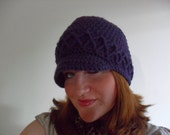 Custom made to order fashion cable newsboy hat for female/teenager