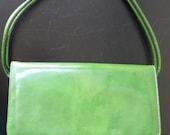Vintage Kelly Green Handbag Purse