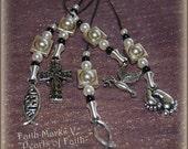"""Faith Marks V, """"Pearls Of Faith"""" (Set of 5) Book Charms"""