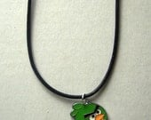 red angry birds metal pendant necklace
