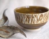 Honey Mustard - Small textured bowl.