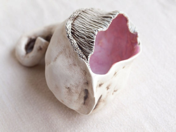 lifeform 2.   Porcelain organic pod sculpture.