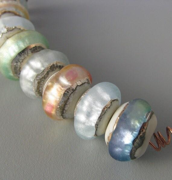 Soft Glow -handmade glass beads