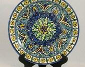 Vintage Pottery Plate from Jerusalem