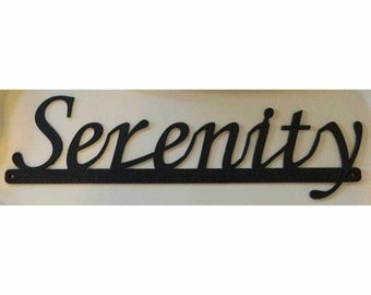 Inspirational Words - Serenity Sign