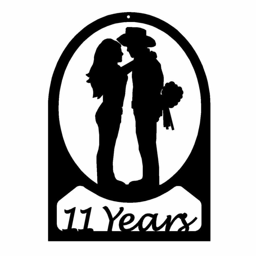 Western Couple Silhouette Western Couple Kissing 11 Year