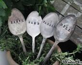 Vintage Silverware Garden Marker Set