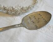 Vintage Silverware Wedding Date Bride Groom Cake Topper Favor