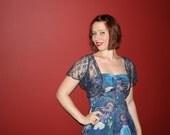 Audrey blue floral dress size small