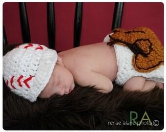 Newborn All American Baseball  Hat Diaper Set Last one of the season!